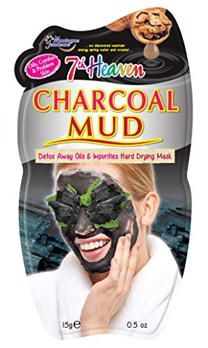 7th Heaven Charcoal Hard Drying Facial Mud Mask with Crushed Walnut and...