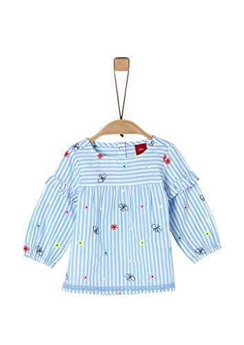 s.Oliver Junior Baby-Mädchen Bluse, 53A8 light blue AOP, 80