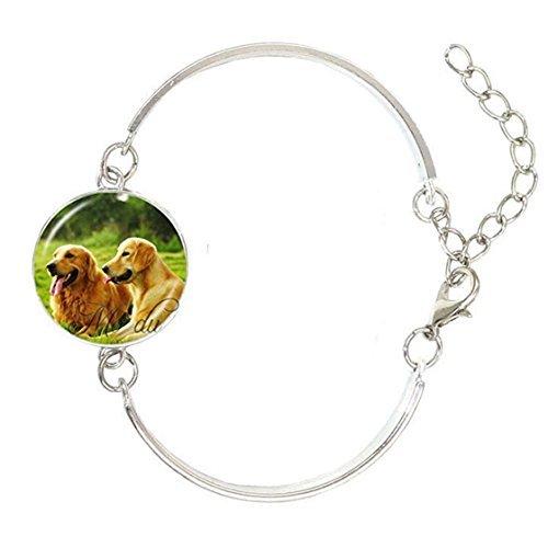 Golden Retriever - Pulsera con foto de perro, diseño de perro