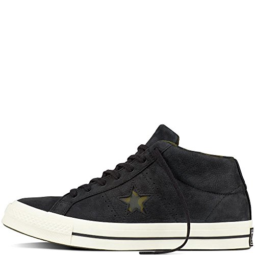 Converse Unisex Adults Lifestyle One Star Mid Nubuck Fitness Shoes, Green (Herbal/Collard/Black 342), 9.5 UK