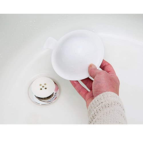 StopShroom Ultimate Universal Stopper Plug for Bathtub, Bathroom, and Kitchen Sink Drains (White)