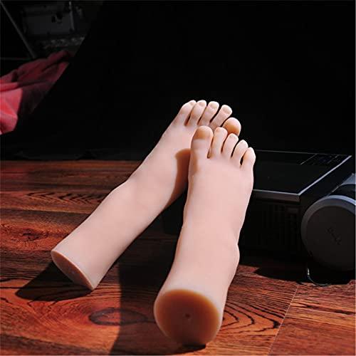 GJQDDP Silicona Maniquí Pie, El Modelo de pie Femenino más auténtico Fabricado por TPE, restaura una Textura Clara, Huesos incorporados, pie protésico 1: 1 de 36 Yardas de Tono de Piel