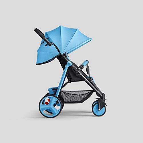 Gymqian Leichte Kinderwagen Mit Sicherheitssystem Und Multi-Fach Neigungsverstellbare Sitz, Vordach, Easy One Hand...