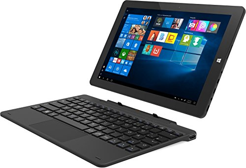 TrekStor Tablet-PC mit andockbarer Tastatur (25,65 cm (10,1 Zoll) IPS-Display, Intel Atom x5-Z8350, 2GB RAM, Intel HD Graphics 400, Win 10 Home) schwarz