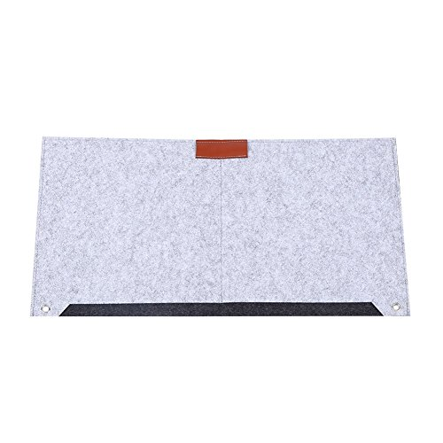 VGEBY Filz Schreibtischunterlage Computer Fliz Multifunktional Matten Mauspad Tischunterlage, Grau