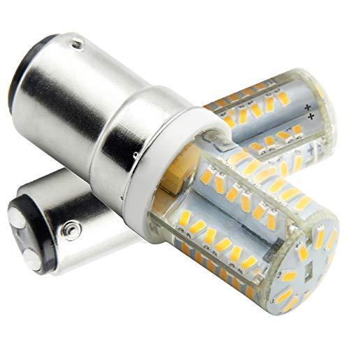 B15D-LED-Lampe-Glühlampe-4W, B15d LED Leuchtmittel, Nicht-Dimmbar, 350Lumen, 12V AC, 360 Grad Winkel, CRI> 80Ra, Warm Weiß 3000K, Ersatz für 45W B15D Halogenlampen(2er Pack)