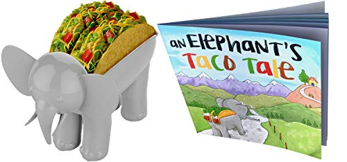 ELEPHANT TACO HOLDER - THE ULTIMATE MULTIPURPOSE FOOD HOLDER (Taco Holder With Kids Book)