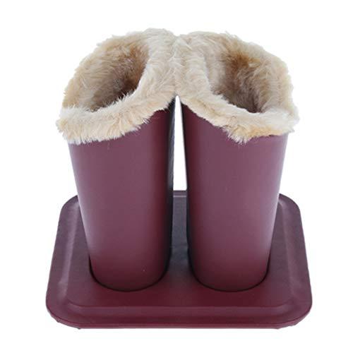 MAOSUO Suporte para óculos, capa preta de couro PU para óculos, capa protetora forrada de pelúcia para mesas ou mesas-cabeceiras, RD