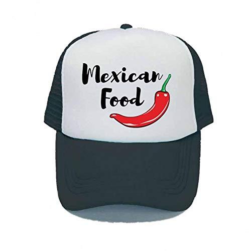 Gorra de Beisbol Mujeres Hombres Tienda Gorros y Gorras de Chile Sombrero de Camionero de Chile Rojo Pimienta Gorra de Dibujos Animados de Comida Mexicana de Chile de Dibujos Animados