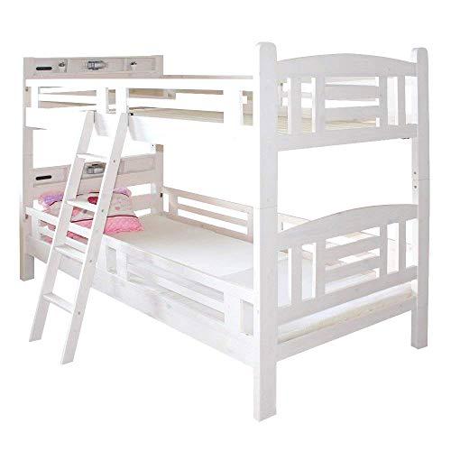 2段ベットフレンズホワイトWH5-18子供部屋ベットホワイト心地よい睡眠やすらぎ2人