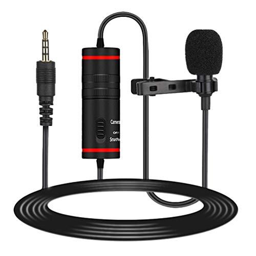 SOLUSTRE Km-D1 Collar Clip Micrófono Micrófono de Solapa Micrófono de Condensador Omnidireccional...