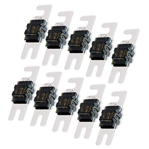 Conext Link AFS70-10 ニッケル 70アンペアAFSヒューズ10個 70 Amp