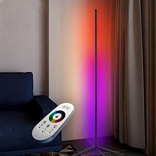 Izzya Lámpara De Pie Clásica Regulable RGB Colorido LED De Pie En La Esquina De Lectura Lámpara Inteligente Luz De Pie Salon Multicolor para Decoración De Dormitorio Lámpara De Pared,Negro