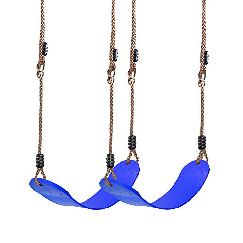 REDCAMP 2-Pack Swing Set Accessories for Kids and Adults, Heavy Duty Outdoor Swing Seat Replacement with Adjustable Long Ropes, Blue