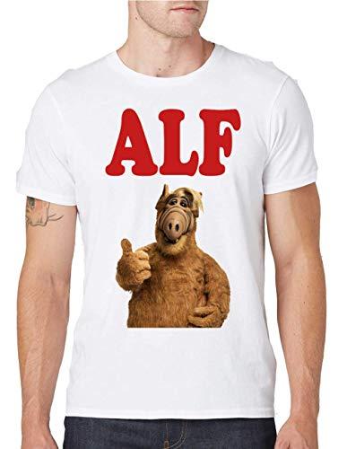 Alf Portrait Tv Show Design Rundhals Herren T-Shirt Small