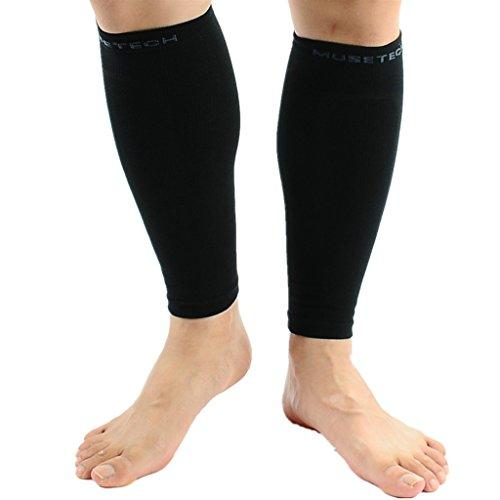 MUSETECH Calf Compression Sleeves (Pair) L/XL Black