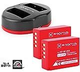 Baxxtar Pro Set - (2X) Repuesto para batería Fujifilm NP-W126s (NP-W126) con Cargador Twin Port 1818/2 (USB Dual)