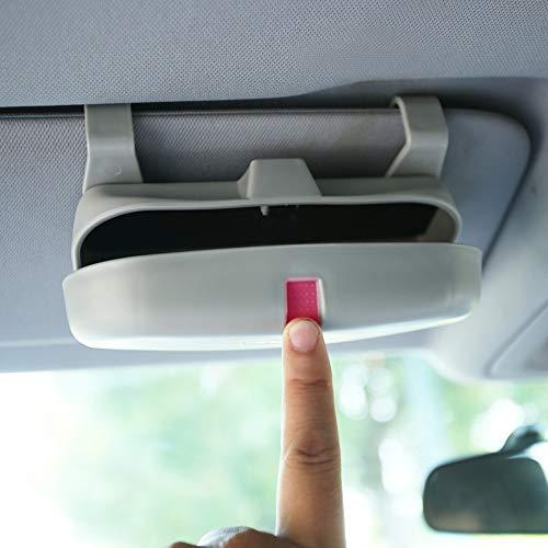 XHULIWQ Auto Brillen Box lagerung Sonnenbrille Fall, für Telsa Modell x Modell s Modell 3, für Jaguar xtl xel i-pace e-pace