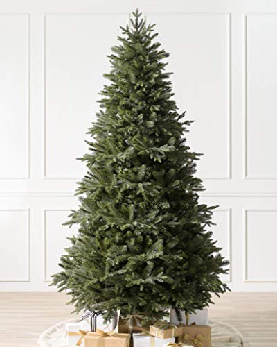 Balsam Hill 7ft Premium Unlit Artificial Christmas Tree Saratoga Spruce with Storage Bag, and Fluffing Gloves
