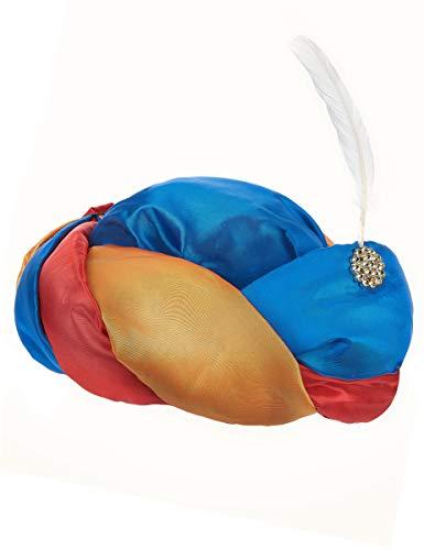 ESPA / FunnyFashion Orientalischer Turban mit Feder für Erwachsene