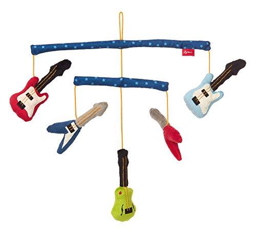 SIGIKID Mädchen und Jungen, Mobile Gitarren Papa&Me, Babyspielzeug, empfohlen ab 0 Monaten, mehrfarbig, 41912