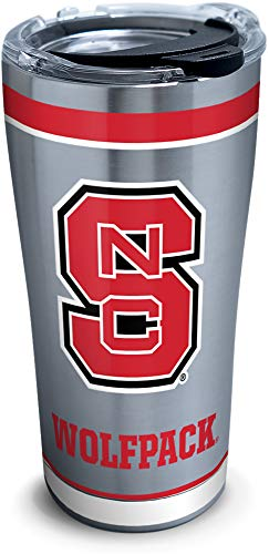 Tervis NC State Wolfpack Tradition Stainless Steel Insulated Tumbler with Clear and Black Hammer Lid, 20 oz