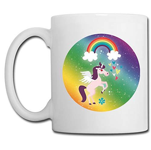 Linyatingoshop - Tazza con unicorno e arcobaleno, regalo di compleanno, con glitter