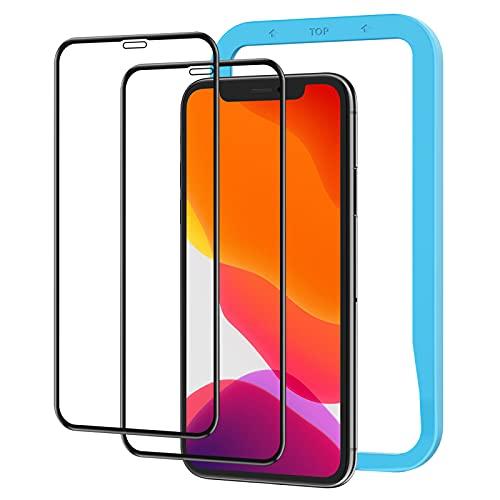 2枚セット NIMASO ガラスフィルム iPhone 11 / XR 用 全面保護 フィルム フルカバー ガイド枠付き (iphone xr / iphone11 用)NSP18H18