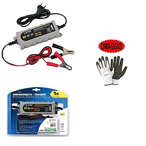Compatible con AIXAM Cargador DE BATERÍA para Moto Scooter Quad Boats Camper LAMPA 70178 Mantenimiento Actual 6/12V-0,55/1A Universal para BATERÍAS DE Plomo,SM,Gel,AGM