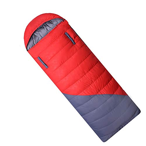 ChHAIS Rood En Blauw Outdoor Volwassen Envelop Down Slaapzak Kan worden Spelled Double Duck Down 0-15 Graden Outdoor Equipment buitenproducten, Zwembed, Zwembed volwassene, sw