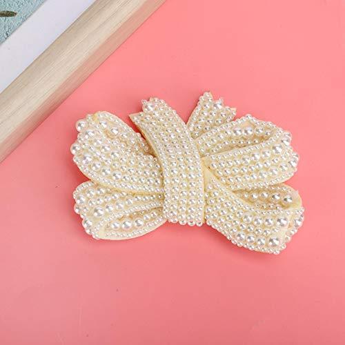 Shoe Clips 10 x 7cm Pearl Bows Shoe Buckle Shoe Crafts Accessories Wedding Shoe for Party Dress Women Girls Shoes Decor