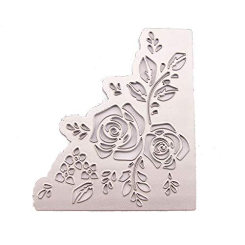 WuLi77 Rose Metall Stanzschablone Die Stanzen Zum Basteln Von Karten, Prägeschablone Für Scrapbooking, DIY Album, Papier, Karten, Kunst, Dekoration