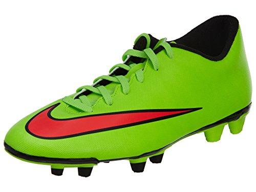 Nike Mercurial Vortex II FG Scarpe da Calcio Uomo, (Verde elettrico/Hyper Punch-nero), 40.5 EU