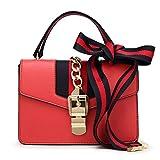 Bolso De La Manera Color De La Banda del Hombro Messenger Bag Bolsos con Estilo (Color : Red)