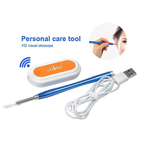 LUCKYFF Otoscopio Auricolare, Telecamera Auricolare Wireless,WiFi USB Endoscopio Pulizia dell\'orecchio,Telecamera Ispezione Wireless 1080P HD,per Dispositivi iOS e Android