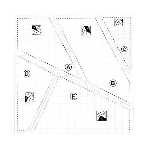 DASNTERED Juego de 5 reglas de costura acrílicas para patchwork, manualidades, artes y manualidades portátiles, plantillas domésticas, para máquinas de coser de bricolaje