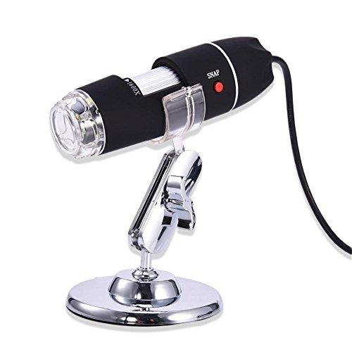 Digital USB-Mikroskop 2MP 40 To1600X USB-Mikroskop-Kamera Digitales Endoskop-Vergrößerungsglas PC Android 8 LED Mit Metallfuß, Kompatibel Mit Mac Windows 7 8 10 Android Linux Einige Android-Handys