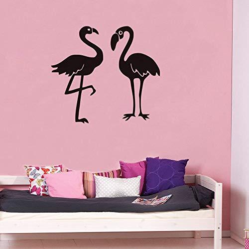 Tianpengyuanshuai Pegatinas de Pared de flamencos decoración del hogar Sala de Estar pájaro Grande Pegatinas de Pared de habitación de niños Pegatinas de Pared de habitación de bebé 57x51cm