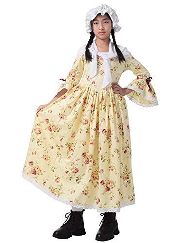 GRACEART Colonial Pioneer Girl Costume Yellow