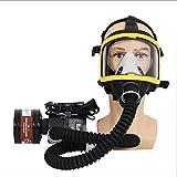 Respirador De Cara Completa Con Suministro De Aire EléCtrico De Flujo Constante Purificador De Aire De Gas Soplador/Tubo De RespiracióN/Cargador/Filtro/CinturóN CombinacióN De Gas, BateríA Recargable