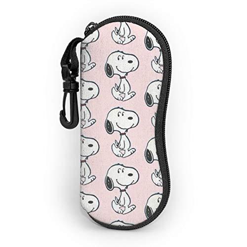 Snoopy - Funda para gafas de sol con cremallera de viaje portátil