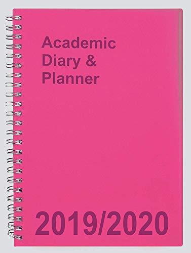 Tiger 2019-2020 - Agenda académica para estudiantes, doble alambre, tamaño A5, vista semanal, color rosa