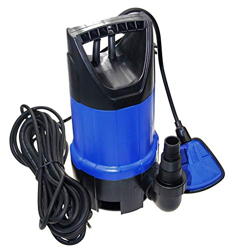 FLUENT POWER 750W 12500L/H Portable Submersible Pump, Dirty/Clean Water Pump with Revocable Function of Float Switch by Its Holder for Pond, Garden, Swimming Pool
