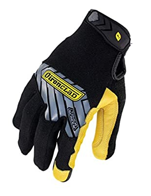 Ironclad Command Pro Gold Goatskin Leather Work Gloves; Touch Screen Gloves Conductive Index Finger, All-Purpose, Machine Washable, Sized S, M, L, XL, XXL (1 Pair)