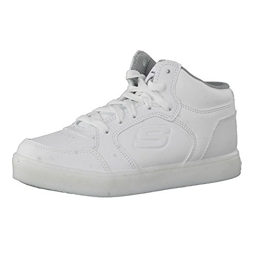 Skechers Boy's Energy Lights Trainers, White (White), 2 UK (35 EU)