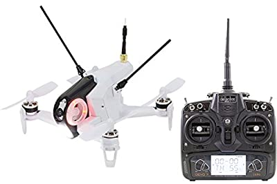 Walkera 15004400 Racing Rodeo 150 RTF Drone Quadcopter FPV with HD Camera, Battery, Charger & Devo 7 Transmitter – White