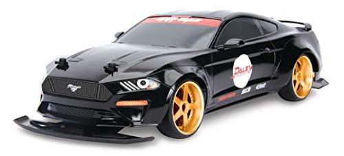 Dickie Toys RC Drift Ford Mustang, RC Auto, ferngesteuertes Auto, Turbo & Driftfunktion, Allradantrieb, 4 Ersatzreifen, inkl. Batterien, USB Ladefunktion, Maßstab 1:10, 29 cm, ab 6 Jahren