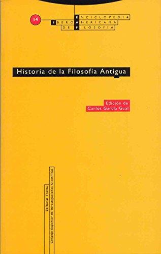 Historia De La Filosofía Antigua: Vol. 14 (Enciclopedia Iberoamericana de Filosofía)