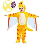 Spooktacular Creations Pterodactyl Dinosaur Costume Prehistoric Kid and Toddler Deluxe Set for Halloween Dress Up Party (3T) Yellow
