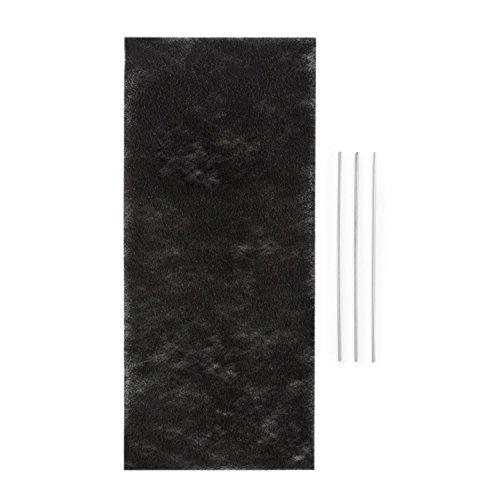 Klarstein Royal Flush 60 Filtre - Filtre à charbon actif pour hotte, Pour modifier en mode recyclage, 37,5 x0,5x 16,7 cm (LxHXP), Pour la hotte aspirante Klarstein Royal Flush 60 Downdraft, noir